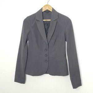 One Design   Gray Button Front Blazer Stretch 2